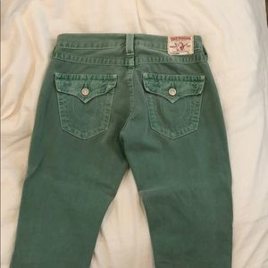 Vintage Mint Green True Religion Jeans
